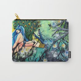 Madama Peacock Carry-All Pouch