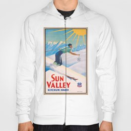 1940 Sun Valley Union Pacific Poster Hoody