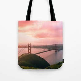 Sherbert Skies over the Golden Gate Bridge from Slackerhill Tote Bag