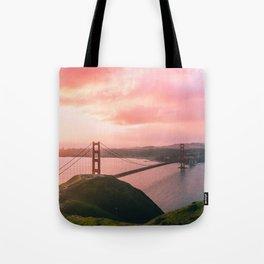 Sherbert Skies over the Golden Gate Bridge from Slackerhill Tote Bag