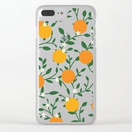 Valencia Oranges Clear iPhone Case