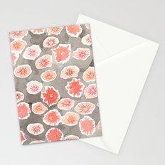 Watercolor flowers pink and gray by robayre Stationery Cards