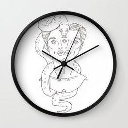 Scorpius Drawing Wall Clock
