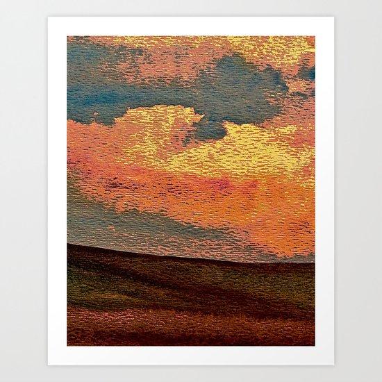 Sunset Over Saskatchewan Foothills Art Print