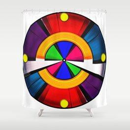 Test Pattern Clock Shower Curtain