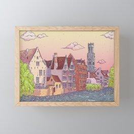 Travel Belgium Wanderlust Framed Mini Art Print