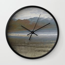 Yet another lake & mountain landscape   1 Wall Clock