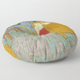 Bedroom in Arles Floor Pillow