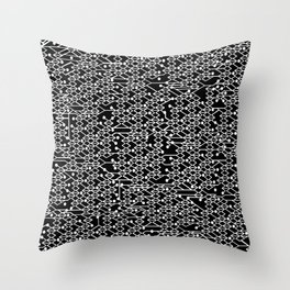Microchip Pattern (White) Throw Pillow