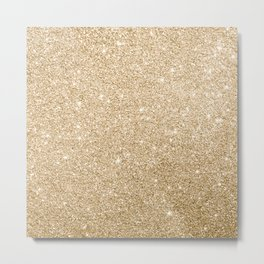 Modern abstract elegant chic gold glitter Metal Print