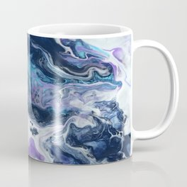 Navy Blue, Teal and Royal Purple Marble Coffee Mug