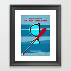 No694 My The Talented Mr Ripley minimal movie poster Framed Art Print