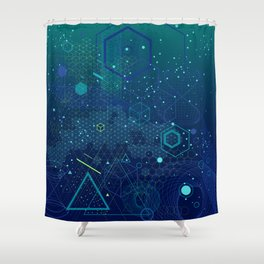 Symbols and elements of Sacred geometry Shower Curtain