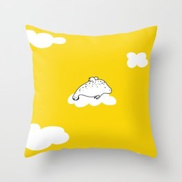 Flying Manatee by Amanda Jones Throw Pillow