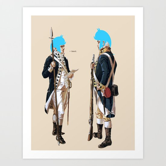 TwitterPated Art Print