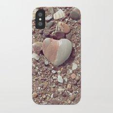 Heart on the Beach iPhone X Slim Case