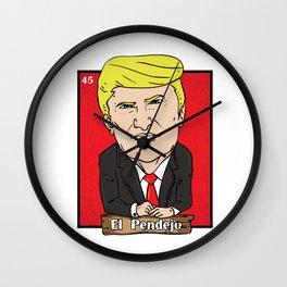 El Pendejo Funny Trump Loteria Card Gift Wall Clock