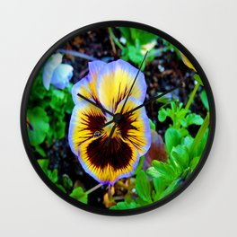 Pansy Tear Wall Clock