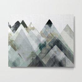 Mountain Abstract II Metal Print