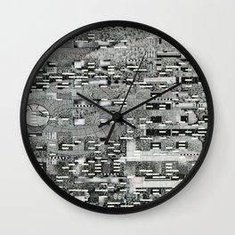 Highly Resolved Ghost (P/D3 Glitch Collage Studies) Wall Clock