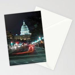 DC At Night Stationery Cards