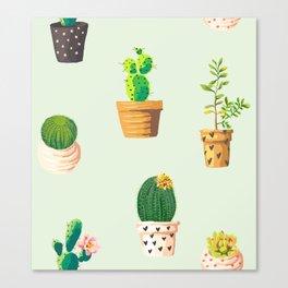 Cacti Fun 01 Canvas Print