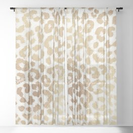ReaL LeOpard - Greek Ancient Gold Sheer Curtain