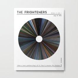 minimal_The Frighteners Warp Barcode Movie Metal Print