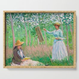 In the Woods at Giverny by Claude Monet, 1887 Serving Tray