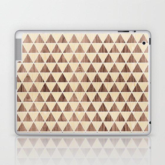 Triangle 2 White Oak + Walnut Laptop & iPad Skin