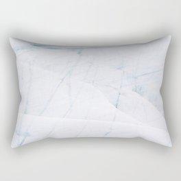 Minimalist Glacier Textures from Iceland Rectangular Pillow