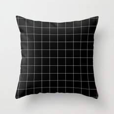 Black Grid /// www.pencilmeinstationery.com Throw Pillow