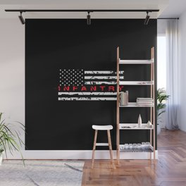Infantry: Distressed American Flag Wall Mural
