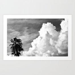 Cloud Beach Art Print