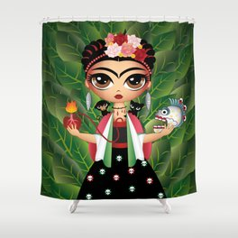 Little Frida Shower Curtain