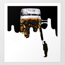 Paint of beer Art Print