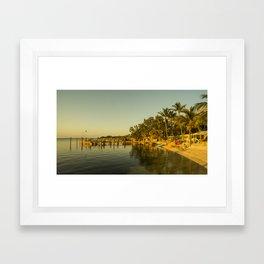 Key Largo Gold Framed Art Print