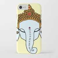 ganesha iPhone & iPod Cases featuring Ganesha by RaJess