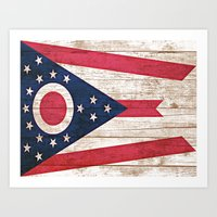 ohio Art Prints featuring Ohio by C Liza B