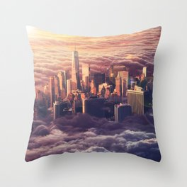 New York: Through The Roof Throw Pillow