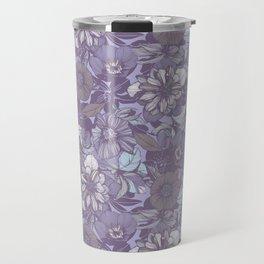 Hellebore lineart florals   soft winter Travel Mug