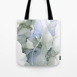 Serenity, Gray Blue Flow Tote Bag