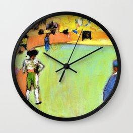 Pablo Picasso - Bullfight, Barcelona - Digital Remastered Edition Wall Clock