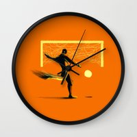 soccer Wall Clocks featuring Soccer by Enzo Lo Re
