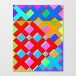 Cubic Quilt Pattern  Canvas Print