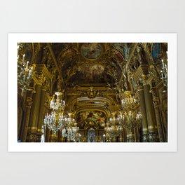 Opera Garnier Art Print