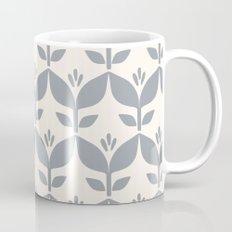 Silver grey retro tulip floral Mug