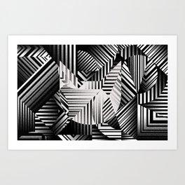 Dazzle cat Art Print