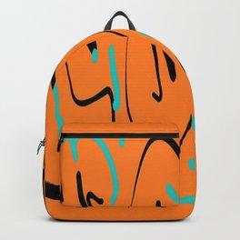Ocre black blue Backpack