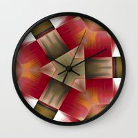 pyramid Wall Clocks featuring Pyramid by Deborah Janke